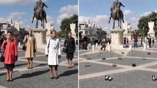 Le donne di Alitalia in protesta al Campidoglio
