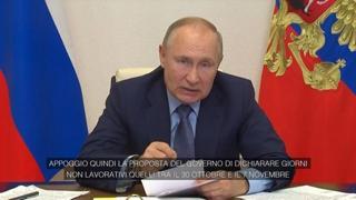 Covid, mille morti al giorno in Russia e Putin ferma tutto: «Per 9 giorni non si lavora»