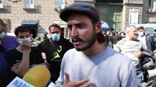 Napoli, il Movimento 7 Novembre in piazza contro disoccupazione e aumento bollette