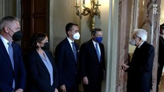 Mattarella incontra il premier Draghi al Colle in vista del Consiglio europeo