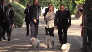 Centrodestra, il vertice tra Berlusconi, Meloni e Salvini a Villa Grande