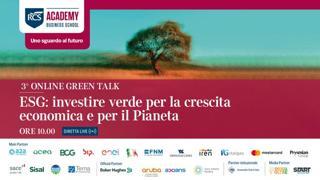 ESG: investire verde per la crescita economica e per il Pianeta