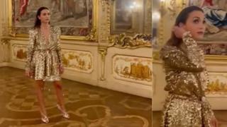 Caterina Balivo incanta tutti con il suo look scintillante a Palazzo Clerici