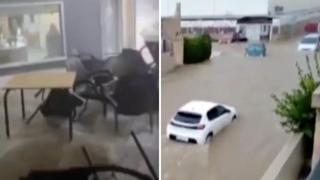Spagna, inondazioni ad Alicante: fiumi d'acqua tra auto ed edifici