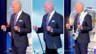 La strana postura di Biden durante un dibattito tv scatena centinaia di meme