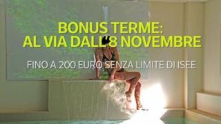 Bonus terme: al via dall'8 novembre