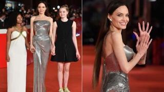 Angelina Jolie con le figlie sul red carpet alla Festa del Cinema di Roma