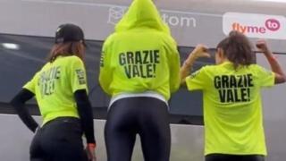 Francesca Sofia Novello, il saluto a Valentino Rossi per il suo ultimo Gp in Italia