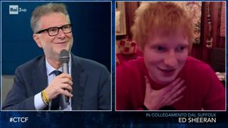 Ed Sheeran ospite di Fazio: «Sono positivo al Covid 19, l'ho scoperto stamattina»