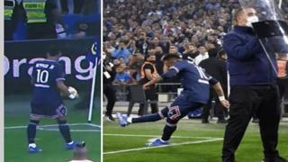 Marsiglia-Psg, Neymar batte il calcio d'angolo protetto dagli scudi: il video