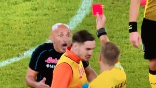 «Ma t'ho detto bravo,  Davi!», Spalletti espulso per l'applauso all'arbitro: ecco cosa si sono detti
