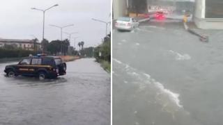 Maltempo a Catania, strade allagate e traffico in tilt