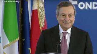 Draghi ai giovani: «A voi spetta trasformare l'Italia, costruite il futuro con un pizzico di incoscienza»