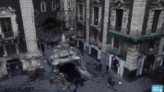 Nubifragio a Catania: le immagini dall'alto con il drone, danni ingenti