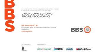 Una nuova Europa, profili economici
