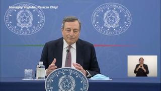 Manovra, Draghi: «Legge espansiva, l'Italia crescerà di oltre il 6%»