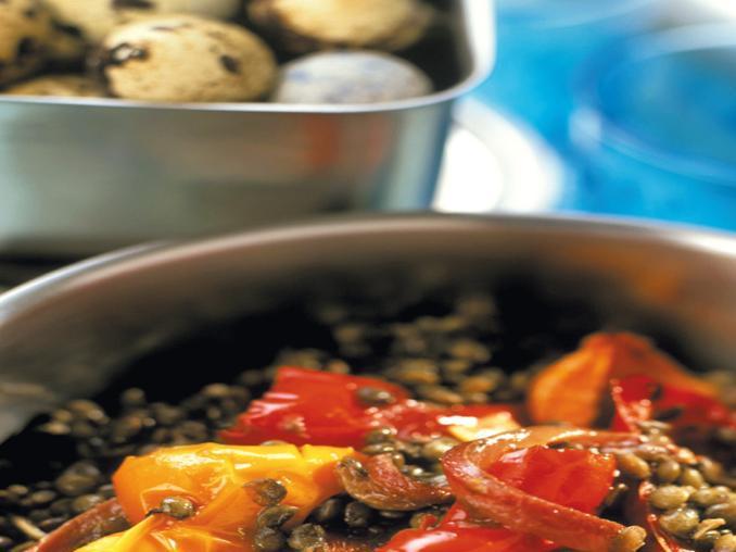 Insalata di lenticchie e peperoni
