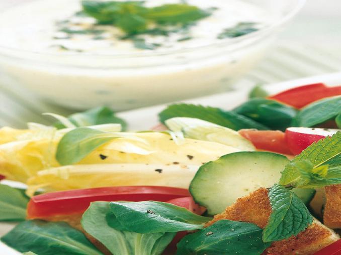 Fantasia di verdure e prosciutto