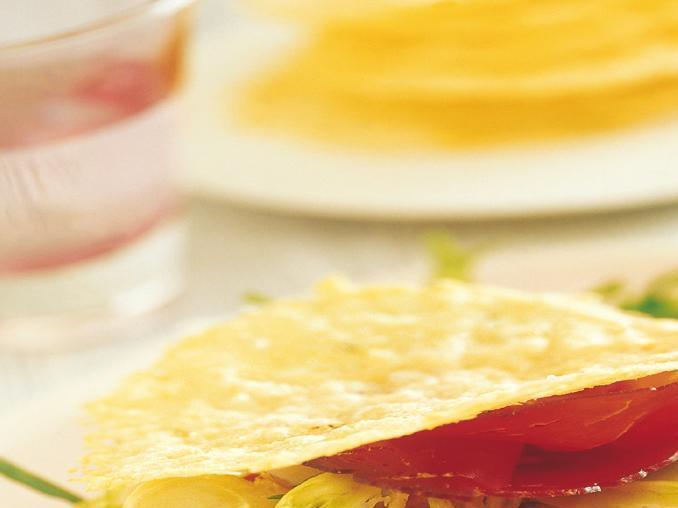 Tegoline di grana con puntarelle e bresaola
