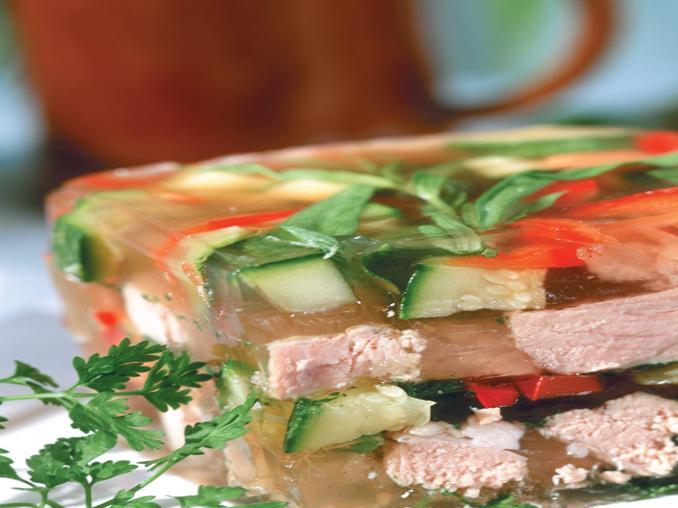 Aspic di vitello e verdure