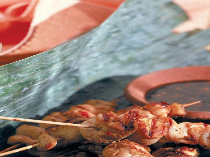 Spiedini di pollo in salsa satay