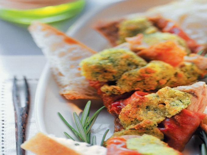 Vitello con prosciutto in crosta di erbe