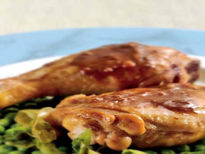 Casseruola di pollo con piselli
