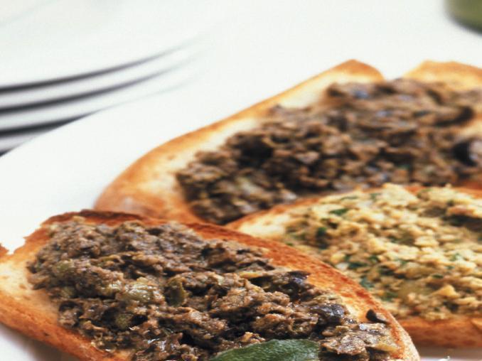 Crostini vegetariani