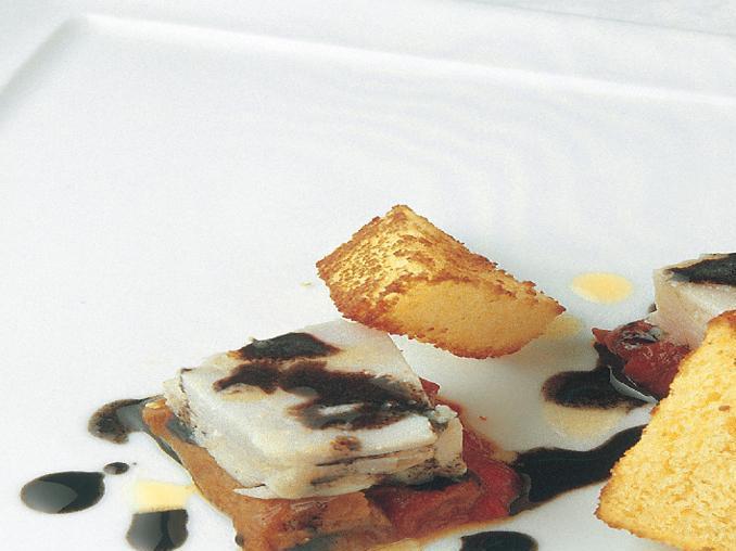 Coniglio tiepido in insalata con condimento alla cenere