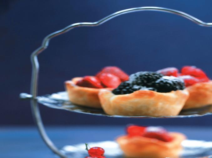 Tartine alla vaniglia con frutti di bosco