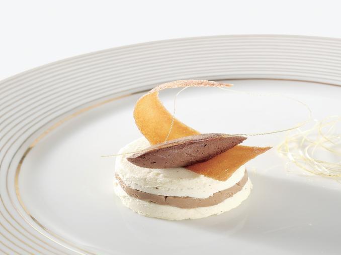 Mousse di cioccolato al tartufo e cremoso alla nocciola