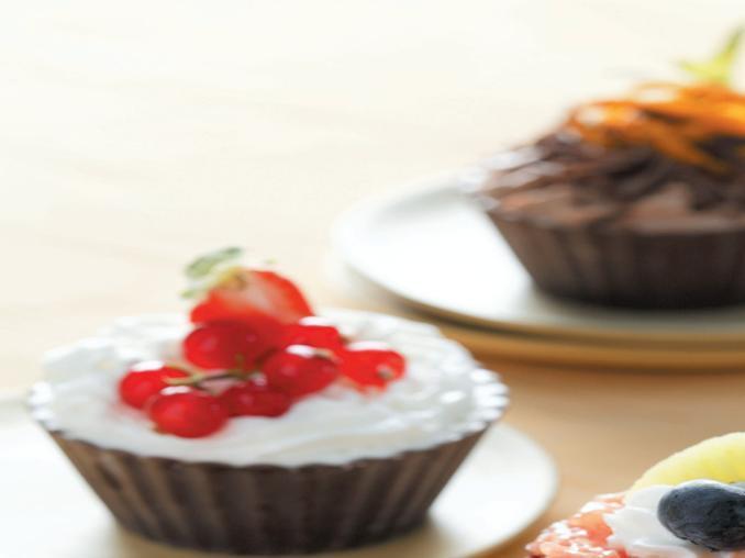 Pirottini di cioccolato alla frutta
