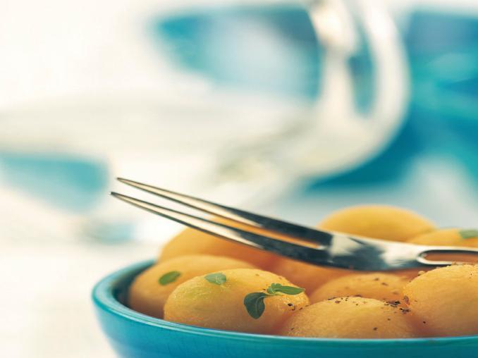 Insalata di melone alle spezie e basilico