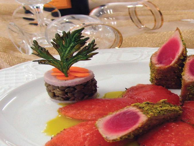 Filetto di tonno al pistacchio e cardamomo