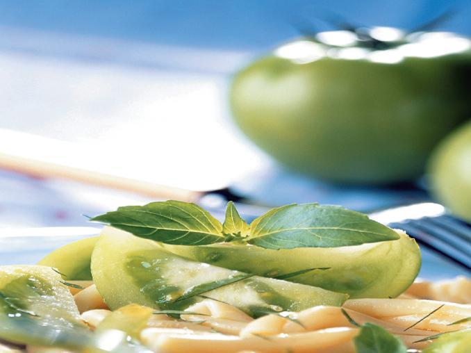 Caserecce ai pomodori verdi