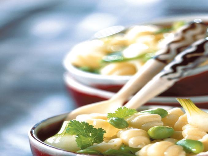 Gnocchetti alle fave e cipollotti