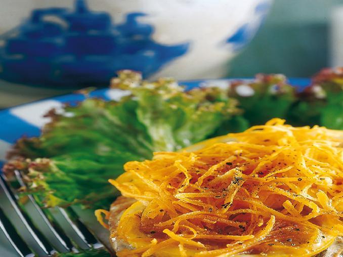 Tonno profumato al limone con julienne di carote