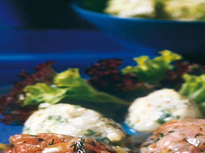 Quenelle di cernia e salmone al lime