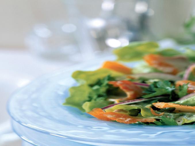 Merluzzo affumicato in insalata