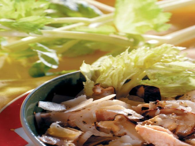 Trota salmonata in insalata