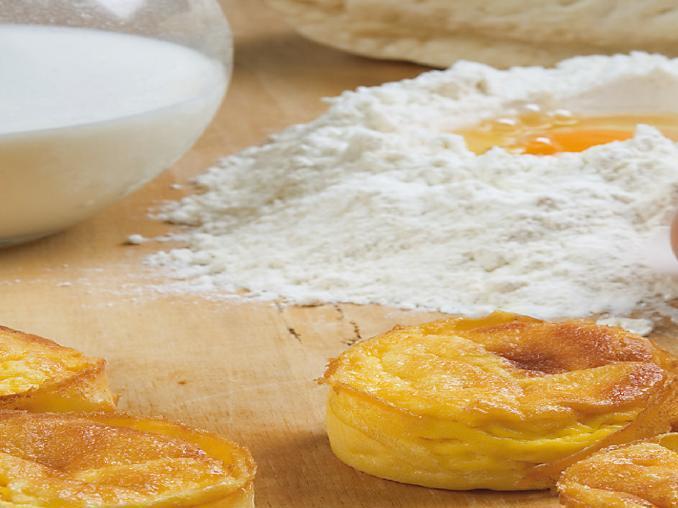 Migliaccio di grano al formaggio di fossa
