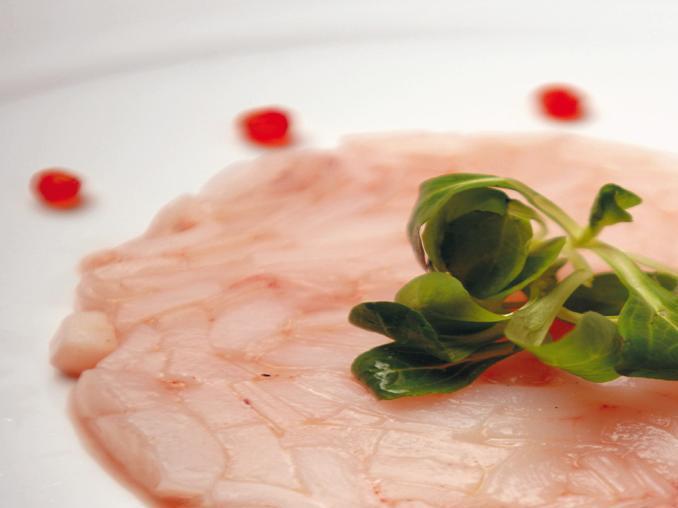 Carpaccio di calamari all'olio di lentischio