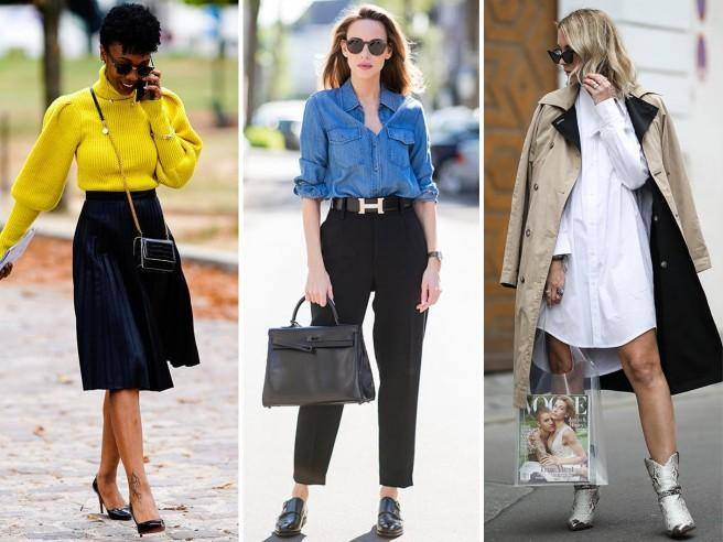 detailed look 52192 3c182 Maglione + gonna scampanata - Stile minimalista, gli outfit ...