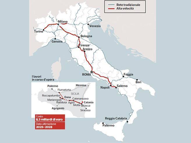 Mappa Napoli Puglia.Ferrovie Treni Senza Alta Velocita La Mappa Dell Italia Corriere It