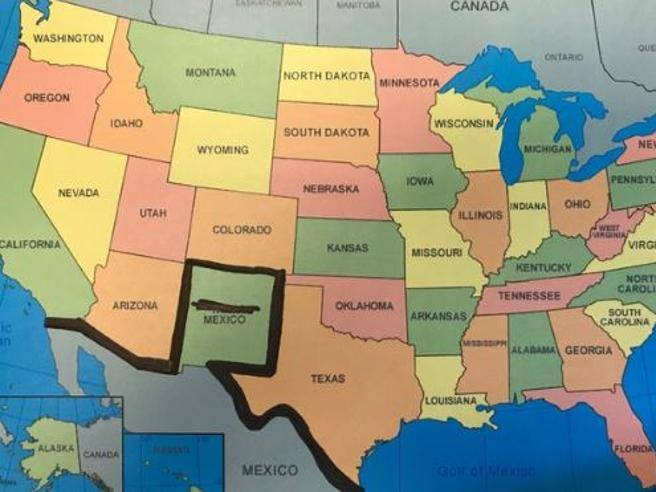 Cartina Politica Messico.La Gaffe Di Trump Un Muro Tra Colorado E Nuovo Messico Corriere It