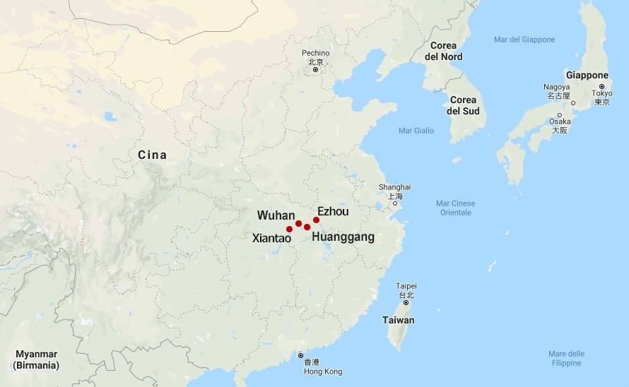 Cartina Mondo Orientale.Virus Cina La Mappa Delle Citta Coinvolte Dalle Misure Di Quarantena Corriere It