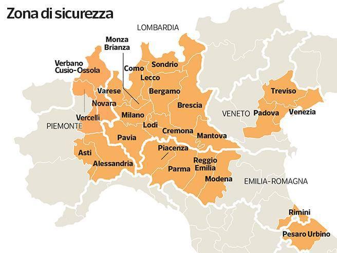 Piemonte E Lombardia Cartina.Coronavirus Comprovate Esigenze Lavorative E Indifferibili Per Uscire Dalla Zona Rossa Corriere It