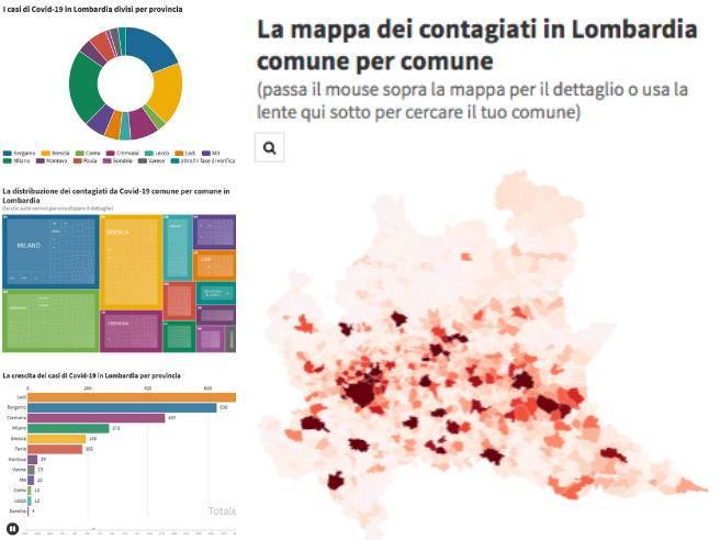Coronavirus I Positivi Per Comune In Lombardia Dati Aggiornati Corriere It