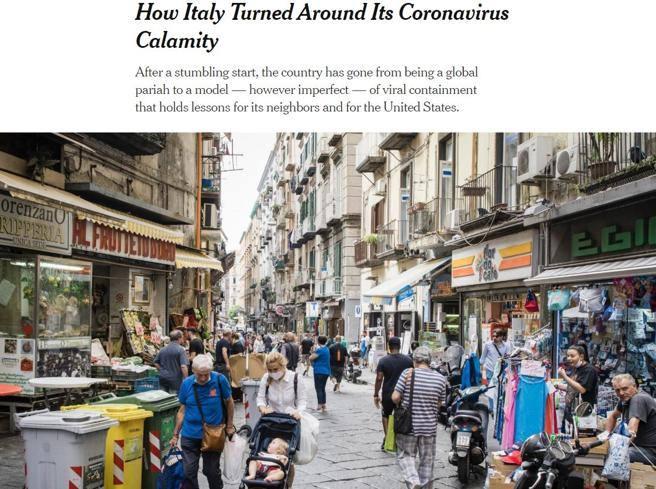 Coronavirus, il NyTimes loda l'Italia: «Da epicentro incubo a modello»