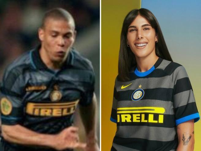 Inter, terza maglia 2020/21: le righe orizzontale nere e grigie ...